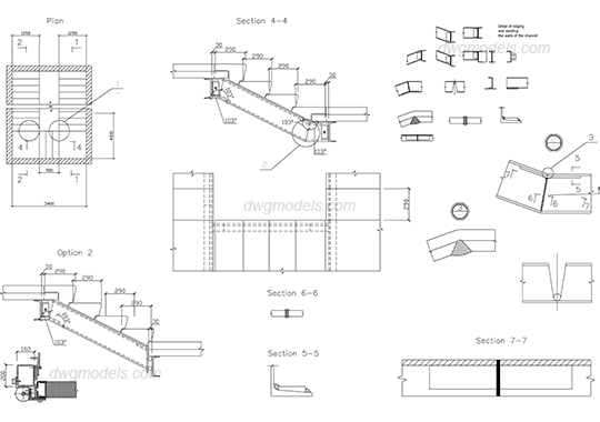 Stairs DWG, free CAD Blocks download