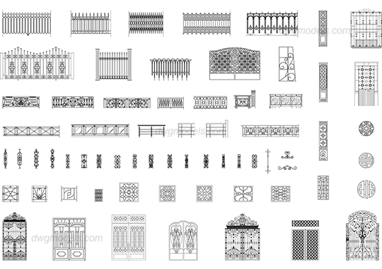 gates and fences dwg