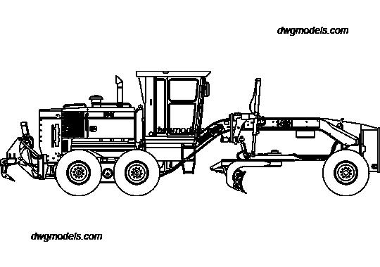 Caterpillar 140H DWG, free CAD Blocks download