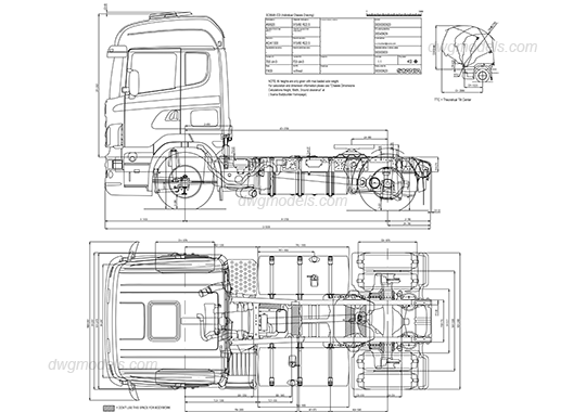 Scania truck DWG, free CAD Blocks download
