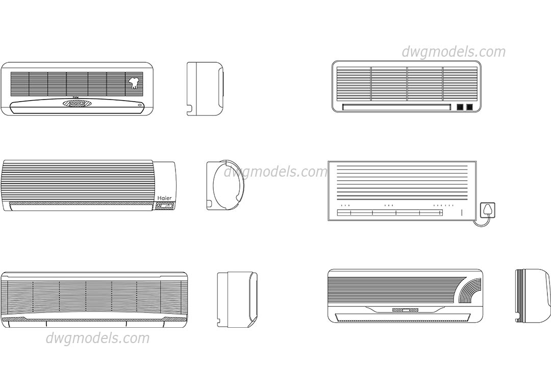 hight resolution of air conditioning dwg cad blocks free download