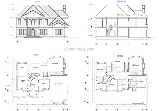 House Plans Cad Drawings | Amazing House Plans