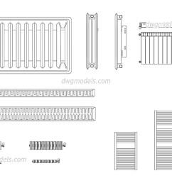 radiators dwg cad blocks free download  [ 1080 x 760 Pixel ]