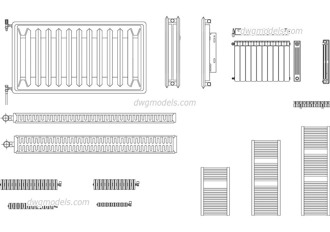 hight resolution of radiators dwg cad blocks free download