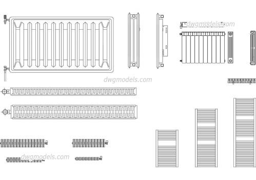 small resolution of radiators dwg cad blocks free download