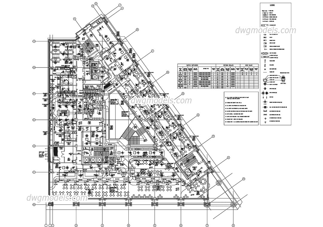 System of ventilation DWG, free CAD Blocks download