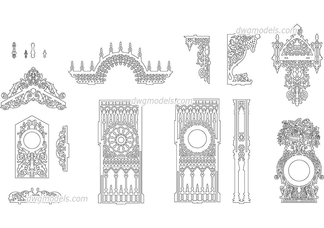 Decorative pattern 2 DWG, free CAD Blocks download