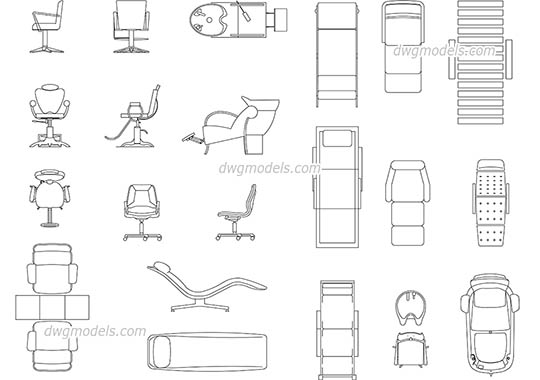 Furniture dwg models, free download