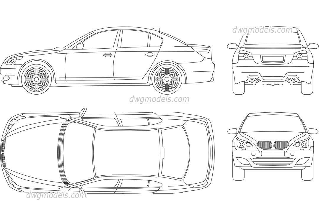 BMW M5 DWG, free CAD Blocks download
