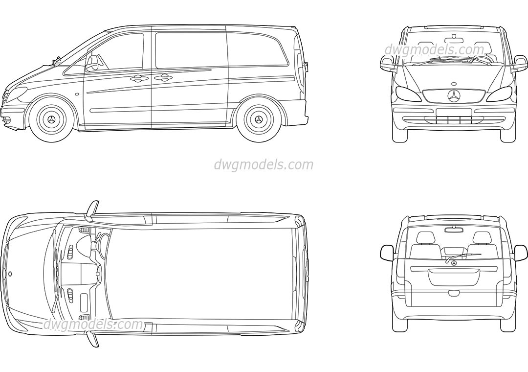 Mercedes Vito DWG, free CAD Blocks download
