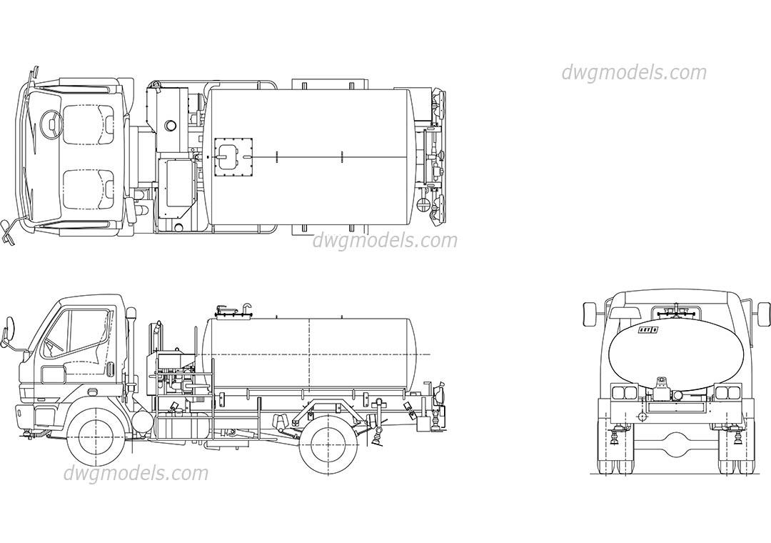 Tank Truck DWG, free CAD Blocks download