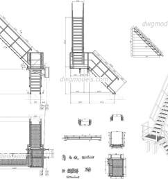 metal stair dwg cad blocks free download  [ 1080 x 760 Pixel ]