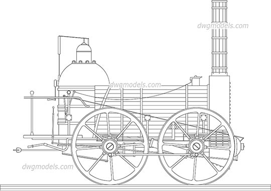 Trains dwg models, free download