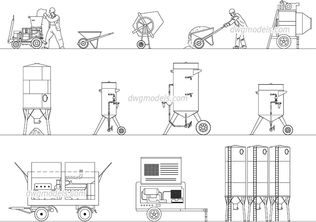 Building equipments DWG, free CAD Blocks download