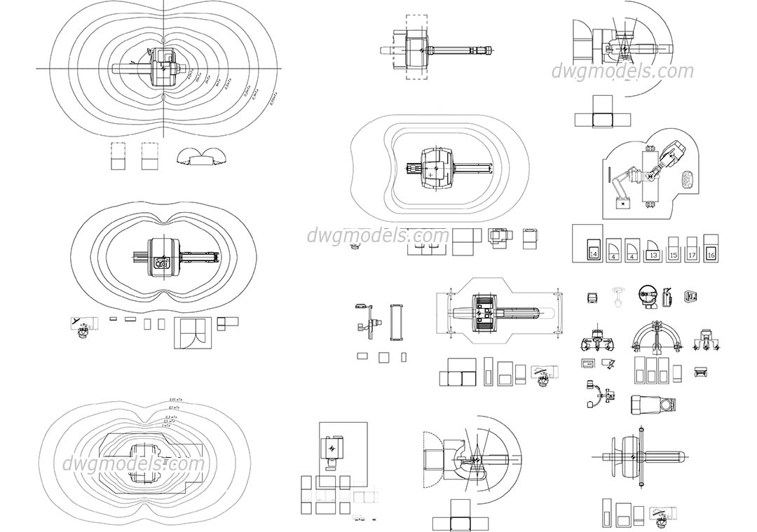 Medical radiology DWG, free CAD Blocks download