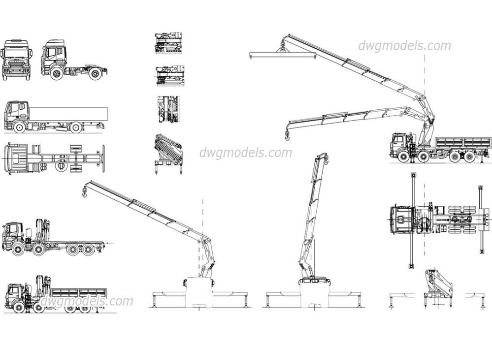 medium resolution of truck crane manipulator dwg cad blocks free download