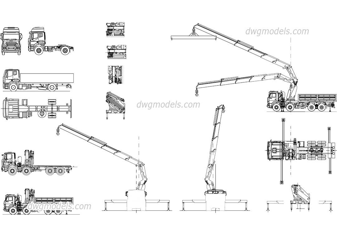 hight resolution of truck crane manipulator dwg cad blocks free download