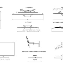 led and lcd tv dwg cad blocks free download  [ 1080 x 760 Pixel ]