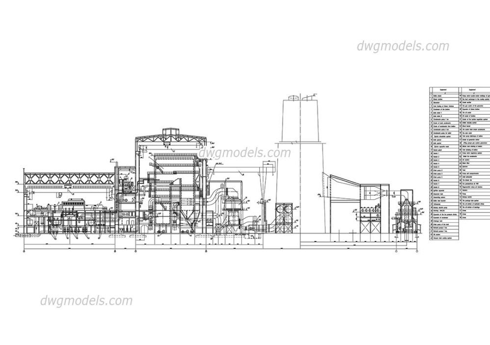 medium resolution of thermal power station of 1000mw dwg cad blocks free download
