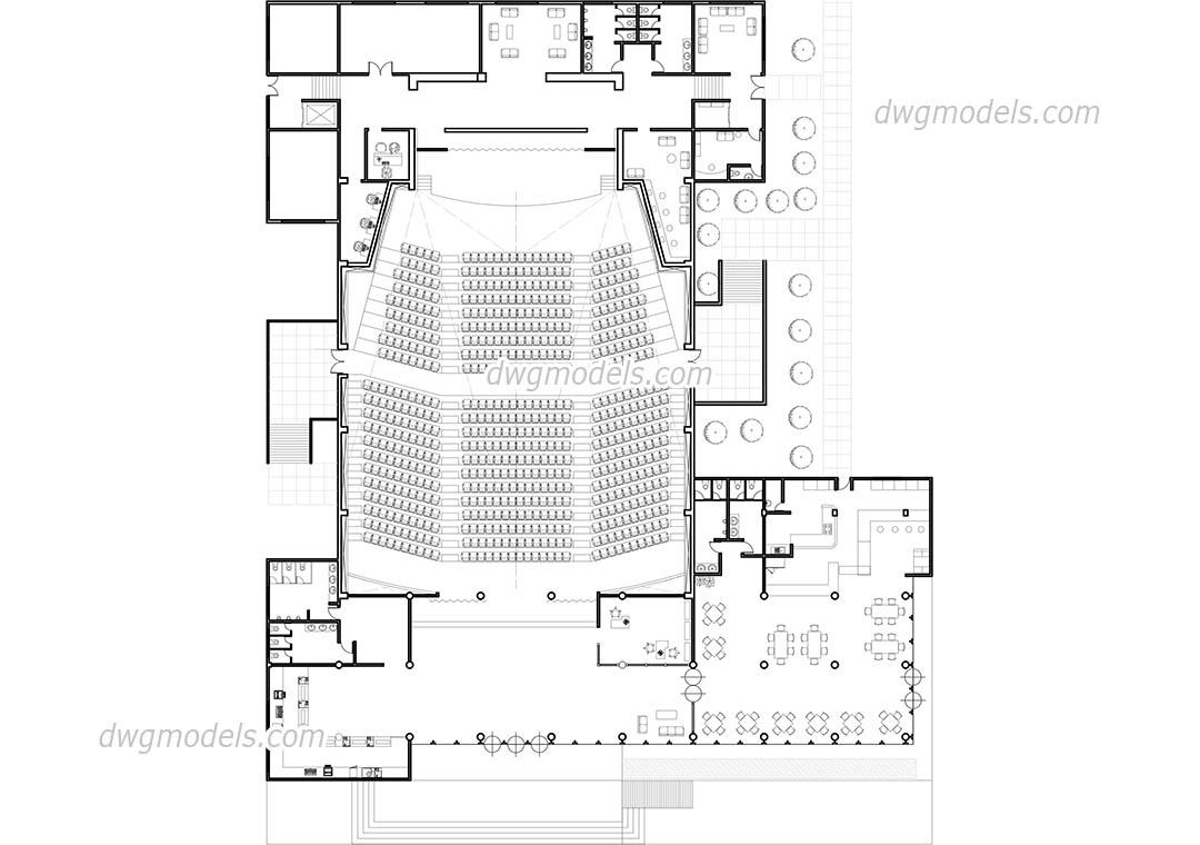 Concert Hall DWG, free CAD Blocks download