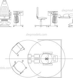 dentist chair dwg cad blocks free download  [ 1080 x 760 Pixel ]