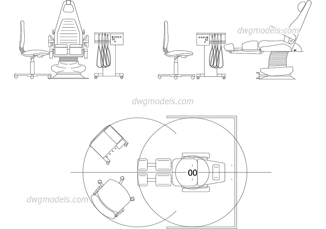 hight resolution of dentist chair dwg cad blocks free download