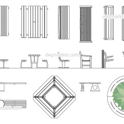 High Seat Chairs For Elderly Wingback Chair Recliner Benches Dwg, Free Cad Blocks Download