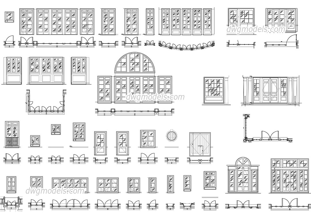 doors and windows set
