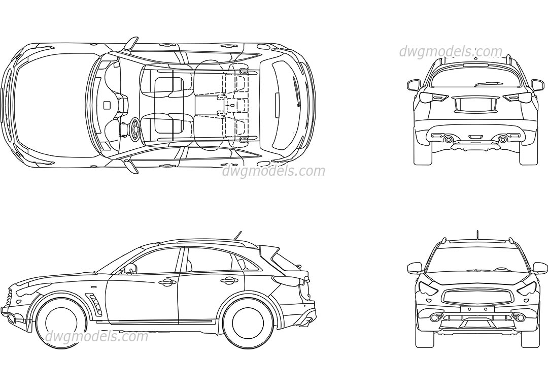 Infiniti FX50 DWG, free CAD Blocks download