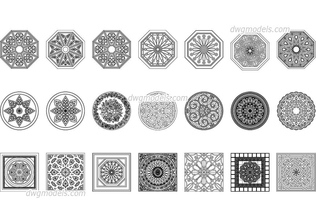 Arabic Pattern DWG, free CAD Blocks download