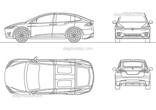 Tesla Roadster 2010 CAD blocks, free AutoCAD file download
