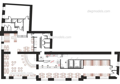 small resolution of kitchen of the restaurant dwg cad blocks free download