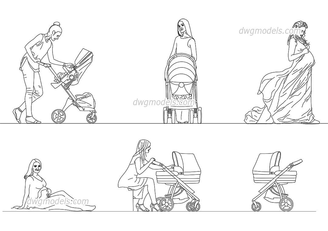 Moms CAD blocks, AutoCAD models download