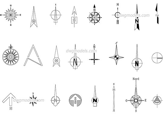 Graphic symbols dwg models, free download » Page 2
