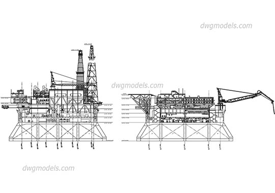Industrial Architecture DWG models and CAD blocks free