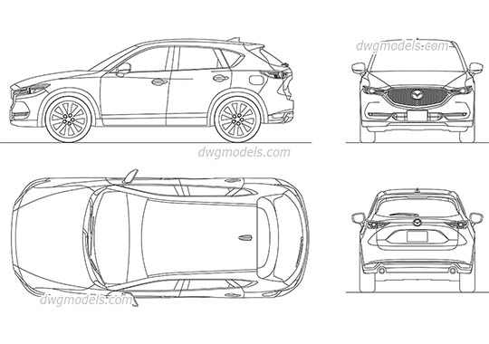 Cars DWG models, free CAD Blocks download » Page 8
