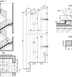 wooden staircase dwg cad blocks free download  [ 1080 x 760 Pixel ]