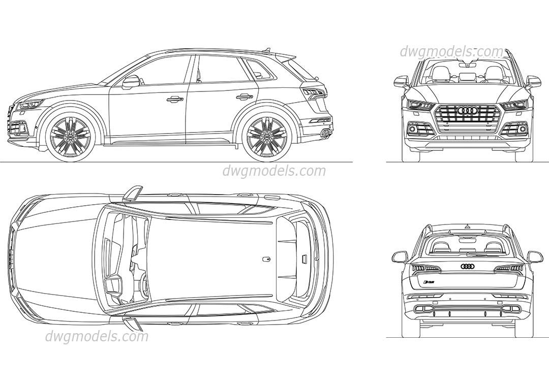 Audi SQ5 2017 AutoCAD drawings, CAD model download