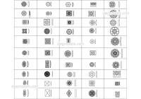 Decorative wall and ceiling elements CAD drawings, AutoCAD ...
