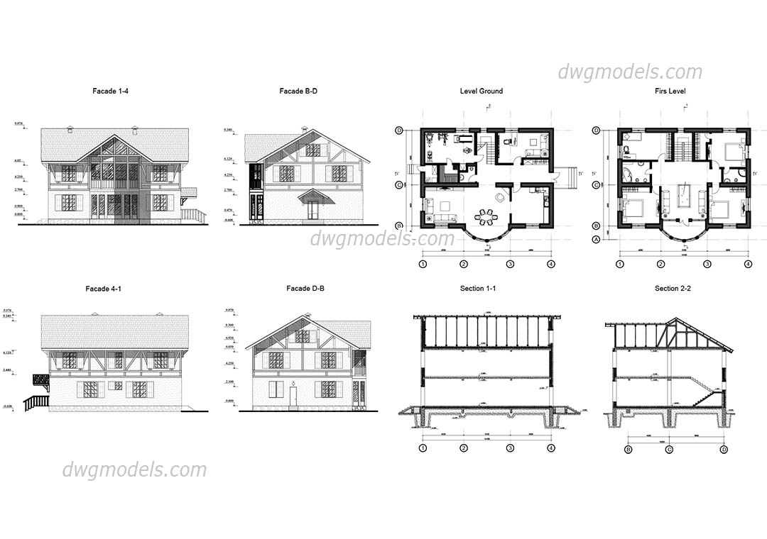 Free Autocad House Plans Dwg