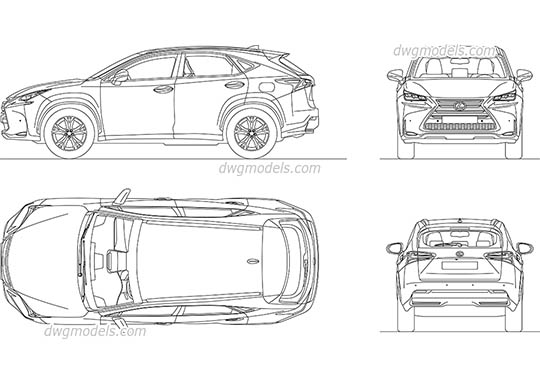 Mercedes-Benz GLC Coupe DWG, free CAD Blocks download