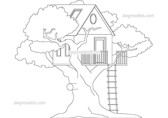 Trees and Plants DWG models, CAD drawings free download