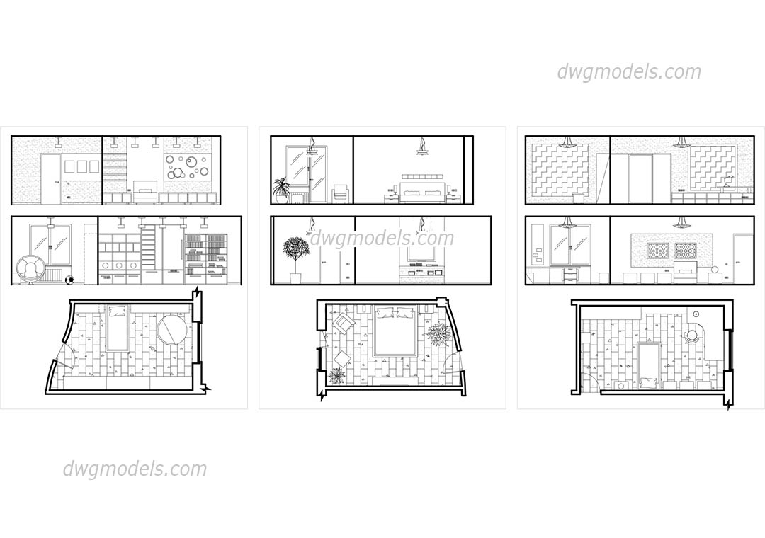 Bedroom Plans And Elevations Free Cad Drawings Autocad File Download