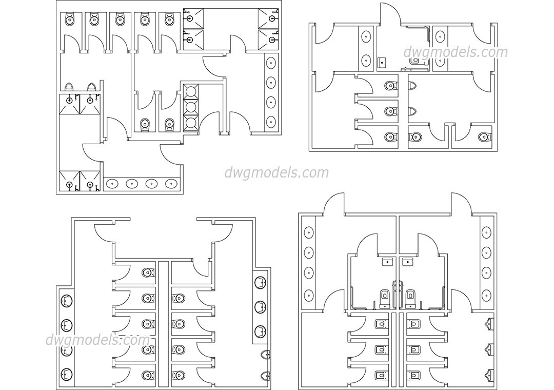 Public Toilets Autocad File Download Free Cad Drawings