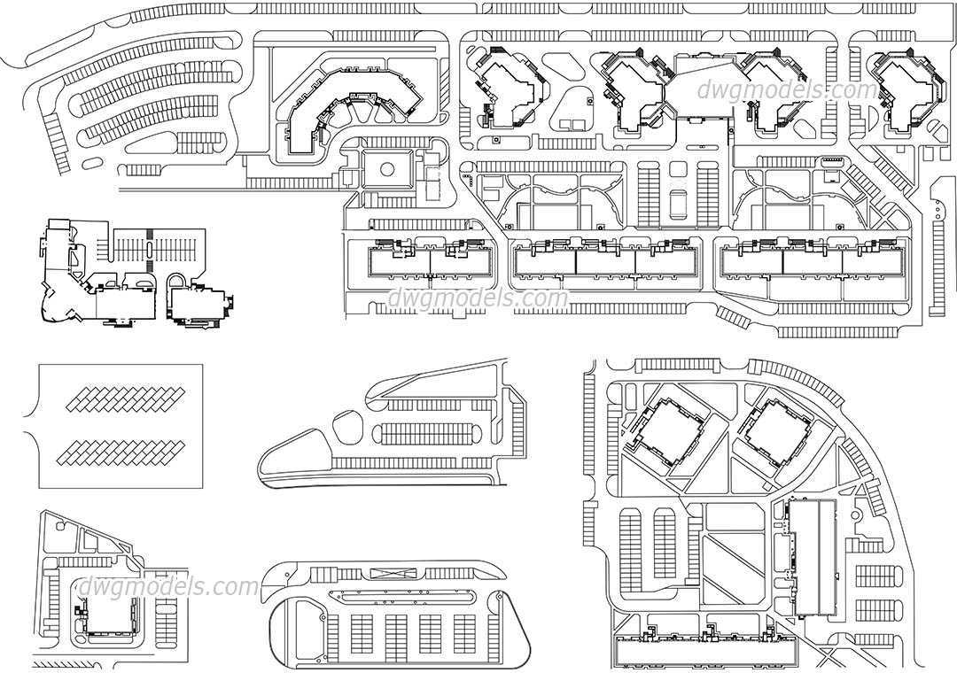 Parking Area AutoCAD, free CAD drawing download