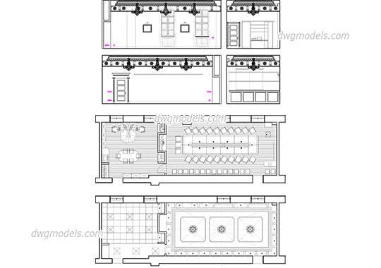 Interiors DWG models, CAD design, AutoCAD blocks free download