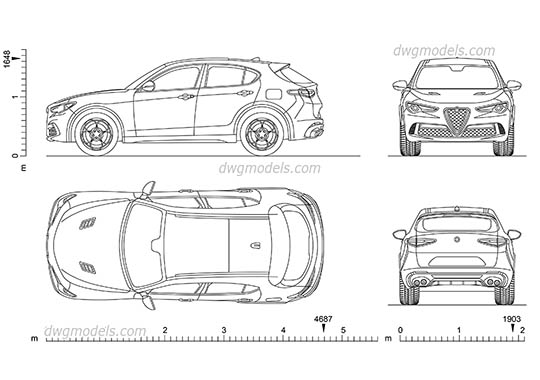 Opel Insignia Grand Sport (2017) AutoCAD drawings download