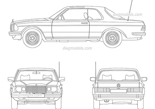 Cars DWG models, free CAD Blocks download