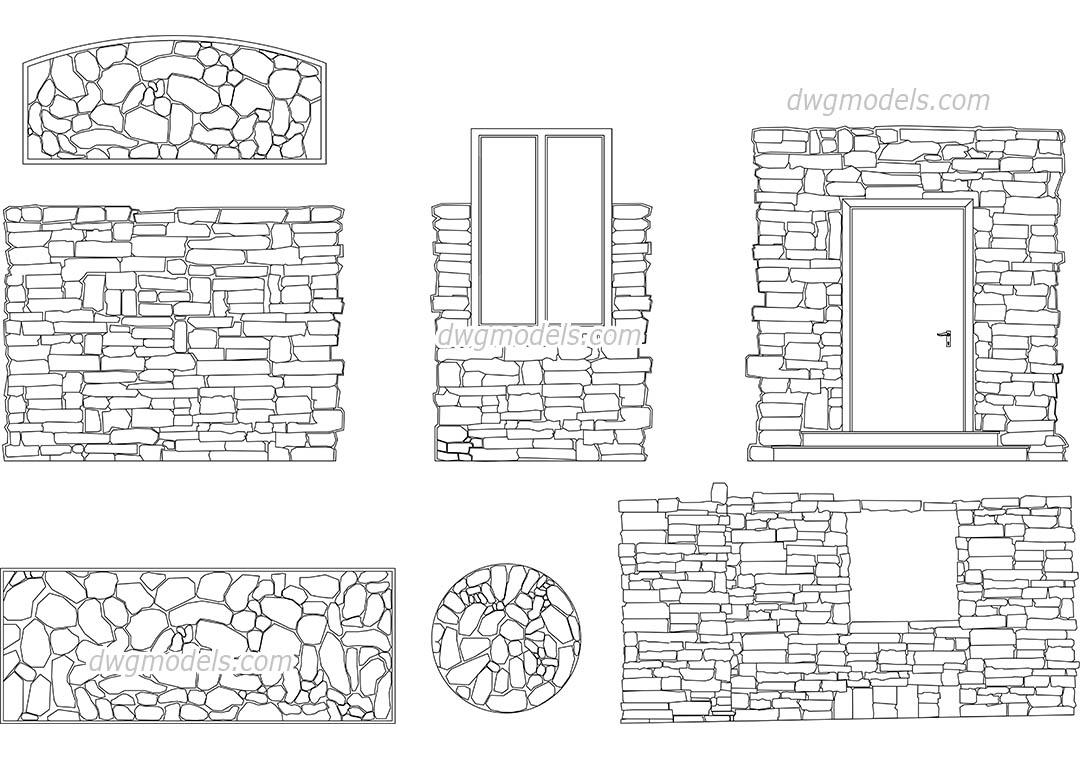 Stone Masonry CAD drawings free download