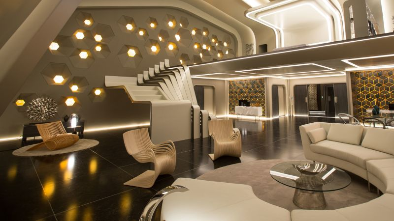Watch Inside the Most Luxurious Set in Passengers